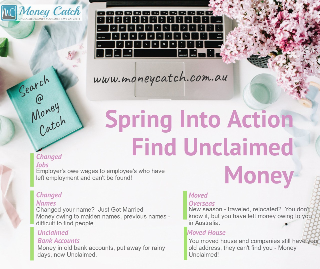 Spring Into Action Find Unclaimed Money at Money Catch